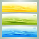 Set of three abstract banners Royalty Free Stock Photos
