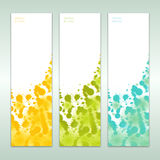 Set of three abstract banners Royalty Free Stock Photography