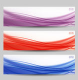 Set of three abstract banners Stock Photos