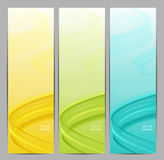 Set of three abstract banners. Stock Photo