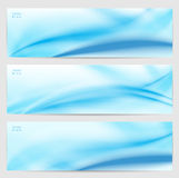 Set of three abstract banners. Royalty Free Stock Image