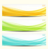 Set of three abstract banners. Stock Images