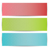 Set of three abstract banners. Royalty Free Stock Photos