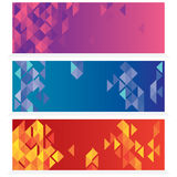 Set Of Three Abstract Banners Royalty Free Stock Photo