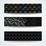 Set of three abstract textured cards Stock Photos