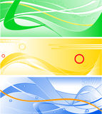 Set of three abstract vector backgrounds Royalty Free Stock Photo