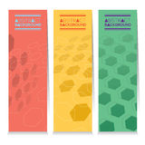 Set Of Three Abstract Vertical Banners. Stock Image