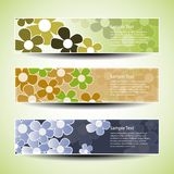 Set of three banner designs with flowers Royalty Free Stock Photography