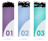 Set of three banners Royalty Free Stock Image