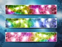 Set of three banners Royalty Free Stock Photography