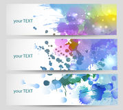Set of three banners. Stock Photography