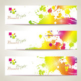 Set of three banners. Abstract headers with bright blots Royalty Free Illustration