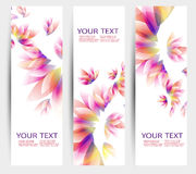 Set of three banners, abstract headers Royalty Free Stock Photos