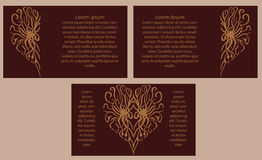 Set of three banners with hearts. Valentine's Day. Vector Stock Photography