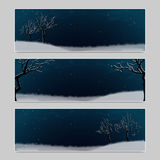 Set of three banners with place for inscription Royalty Free Stock Image