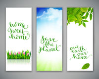 Set of three banners Royalty Free Stock Images