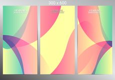 Set of three banners. Vector illustration Stock Photography