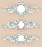Three beautiful frames Royalty Free Stock Image