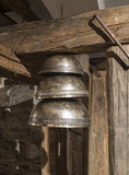Set of three bells above the other Royalty Free Stock Image