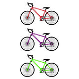 A set of three bicycles. Stock Photo