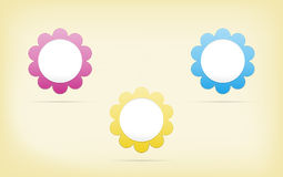 Flower button Royalty Free Stock Image