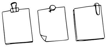 Set of three blank post notes. Illustration vector illustration