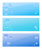 Air bubble banner set Royalty Free Stock Images