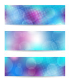 Blue banner set Stock Image