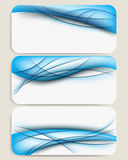 Set of three blue colored futuristic background Stock Photos