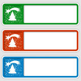 Set of three boxes. For any text with a Christmas motif royalty free illustration
