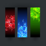 Set of three bubbles banner Royalty Free Stock Images
