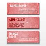 Set of three business banners Royalty Free Stock Images