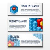 Set of three business banners Stock Images