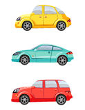 Set of three cars Stock Photo
