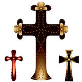 Set of three christian crosses Royalty Free Stock Image