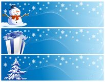 Set of three christmas banners Royalty Free Stock Photography