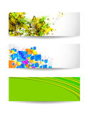 Set of three color background Stock Photo