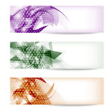 Set three colored abstract banner Royalty Free Stock Photos