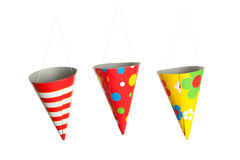 Three Hanging Party Hats Royalty Free Stock Photo