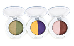 Set of three colored Purdy makeup Royalty Free Stock Photography