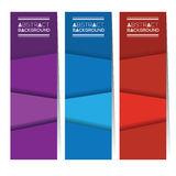 Set Of Three Colorful Abstract Vertical Banners. Royalty Free Stock Photos