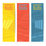 Set Of Three Colorful Abstract Vertical Banners. Stock Photo