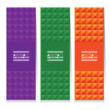 Set Of Three Colorful Abstract Vertical Banners Stock Photography