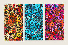 Set of three colorful backgrounds Royalty Free Stock Photography