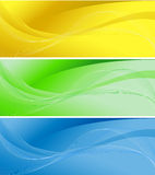 Set of three colorful banners Royalty Free Stock Photo