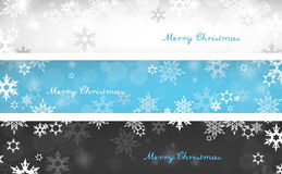Set of three colorful Christmas background banners Stock Photos