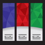 Set Of Three Colorful Geometric Vertical Banners. Royalty Free Stock Image