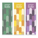 Set Of Three Colorful Vertical Banners Vector Stock Images