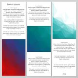 Abstract low poly banners Royalty Free Stock Images