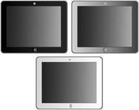 Tablet. Set of three different tablets Royalty Free Stock Image